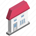 apartment, building, home, house, hut, rural house, villa icon