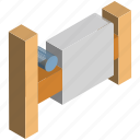 barricade, fence, palisade, railing, wooden palisade icon