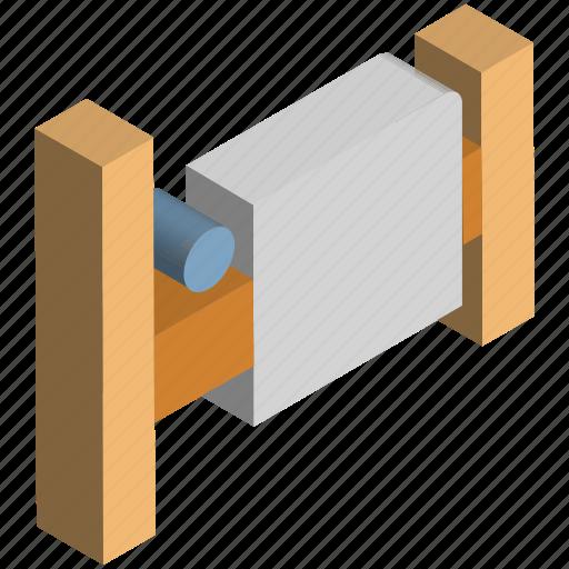 barricade, fence, palisade, railing, wooden palisade icon