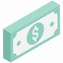 banknotes, currency, currency notes, dollar, finance, paper money, paper notes icon