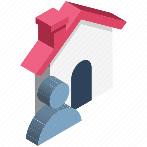 estate agent, home, house owner, man, property agent, realtor, renter icon
