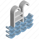 pool, pool ladders, pool stairs, pool steps, swimming, swimming ladder, swimming pool icon
