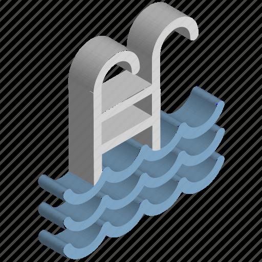 pool, pool ladders, pool stairs, pool steps, swimming, swimming ladder, swimming pool icon