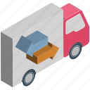 cargo, delivery van, lorry, shipment, shipping truck, transport, vehicle