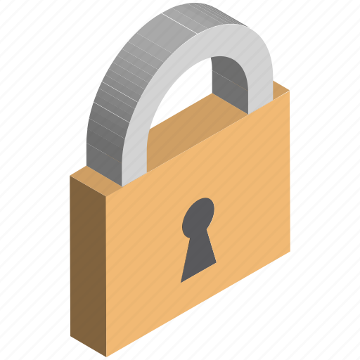 baking, commerce, finance, lock, locker, padlock icon