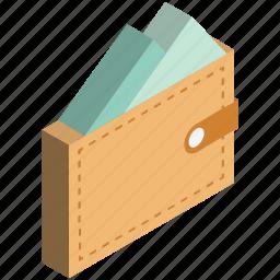 billfold wallet, card holder, coin wallet, pocket purse, pocketbook, purse, wallet icon