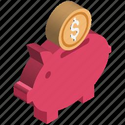 cash bank, cash box, money bank, money box, penny bank, piggy bank, saving money icon