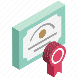certificate, certification, deed, degree, diploma, licence, warrant icon