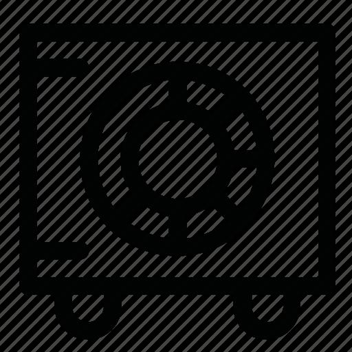 bank, case, cash, money, seif icon