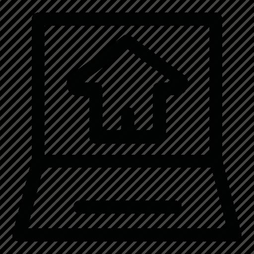 computer, estate, home, online, site icon