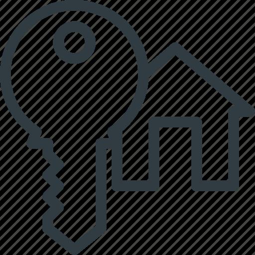 apartment, home, house, key, real, setate icon