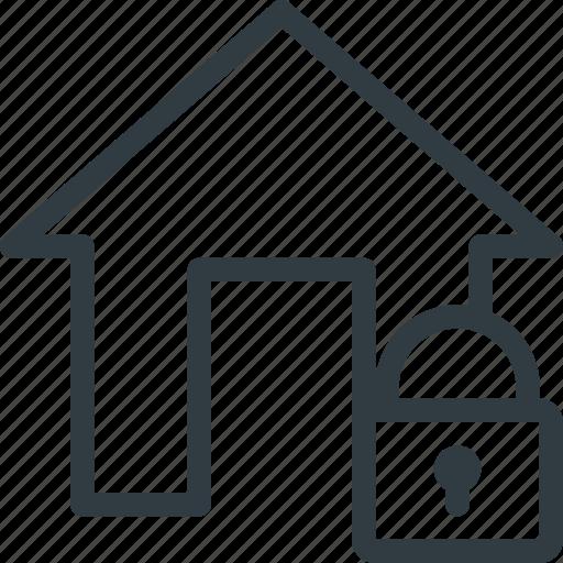 apartment, home, house, lock, real, setate icon