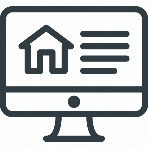 home, house, online, real, setate icon