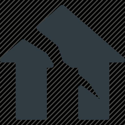 apartment, earthquake, home, house, real, setate icon