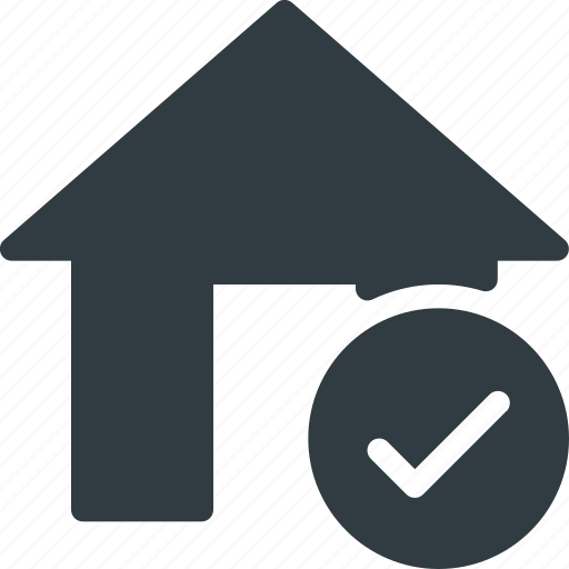 apartment, check, home, house, real, setate icon
