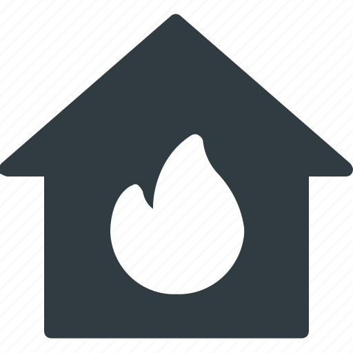 apartment, fire, home, house, real, setate icon