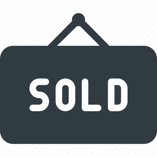 hanger, home, house, real, setate, sign, sold icon