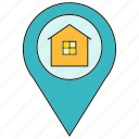 home, house, location, pin, real estate icon