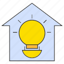 bulb, electricity, home, house, light icon