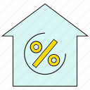 finance, profit, house, real estate, home, percentage icon