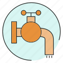 tap, valve, water icon