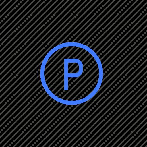 car park, garage, parking, sign icon