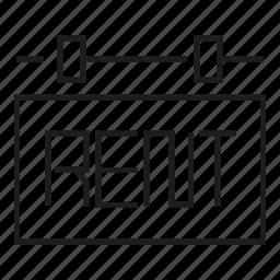 rent, signage icon