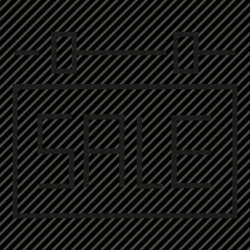 sale, signage icon