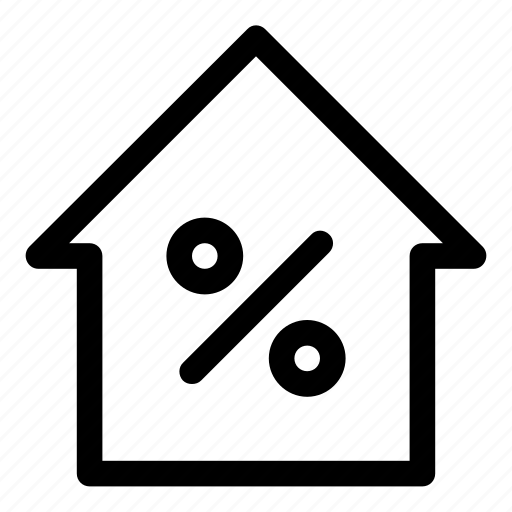 credit, mortage, pay, payment, percent, real estate, sale icon