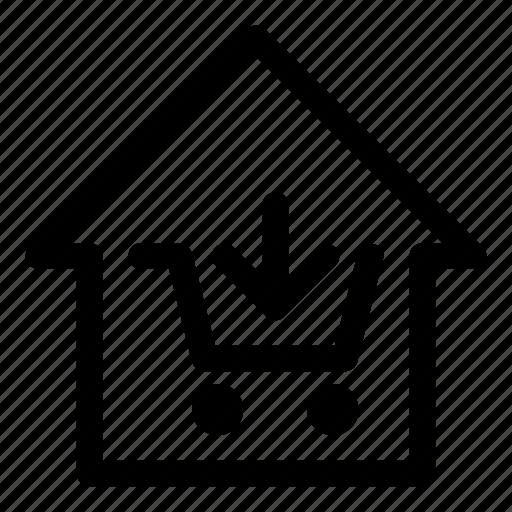cart, home, market, real estate, shop, trade, tradehouse icon