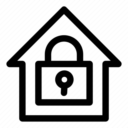 home, house, lock, locked, real estate, safety, security icon