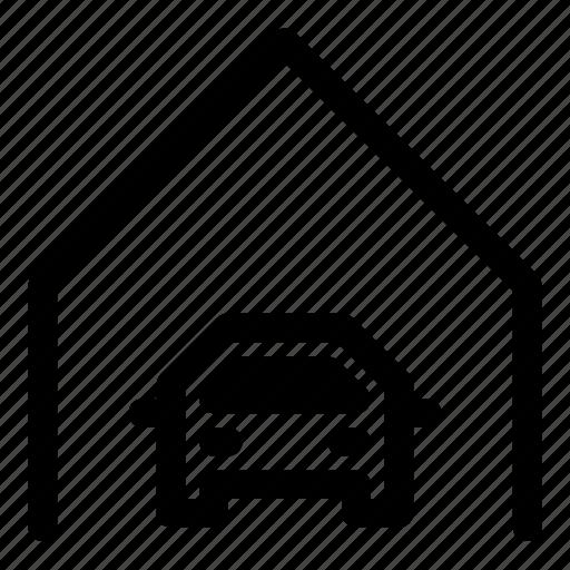 car, garage, home, parking, real estate icon