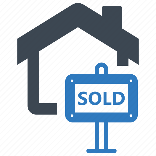 estate, real, sign, sold icon