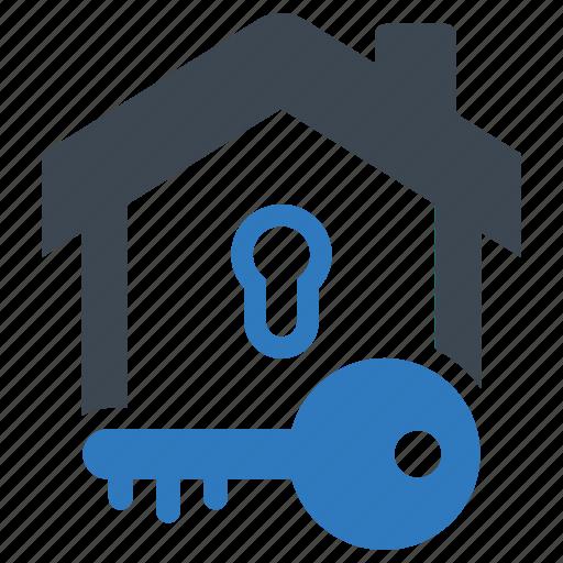 home, house, key, lock icon