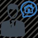 agent, consultant, mortgage, real estate, realtor icon