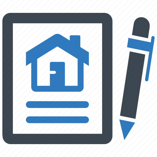 agreement, contract, loan papers, property document icon