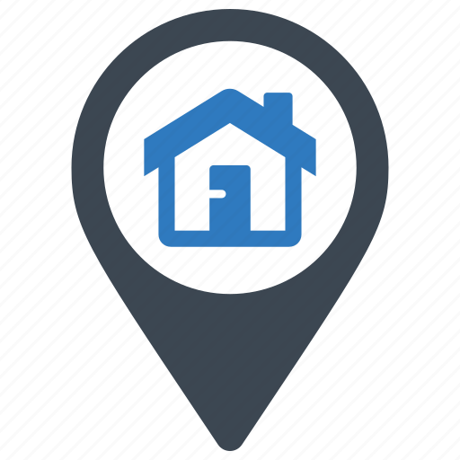 address, home, house, location icon