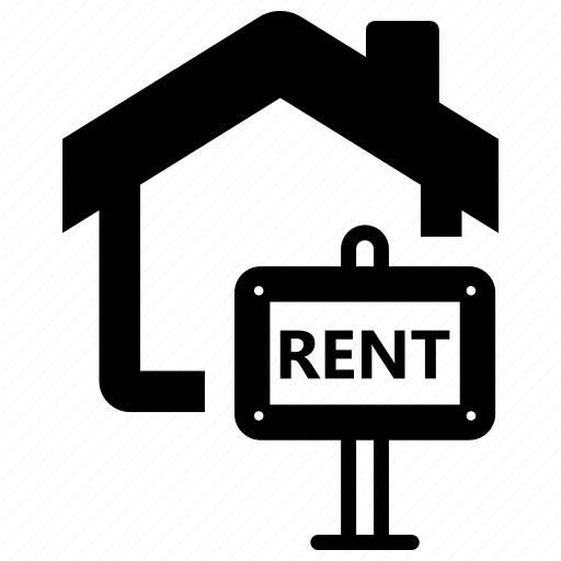 estate, real, rent, sign icon