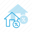 apartment, discount, home, house, real, setate icon