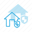 apartment, home, house, insurance, protect, real, setate icon