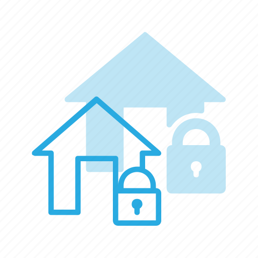apartment, home, house, lock, real, setate icon