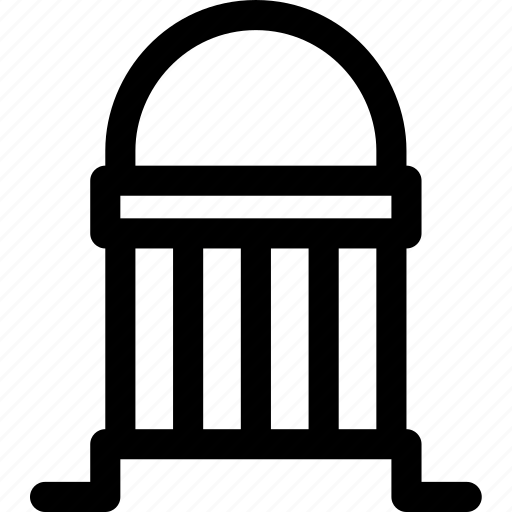architecture, bank, building, column, institute, tower icon