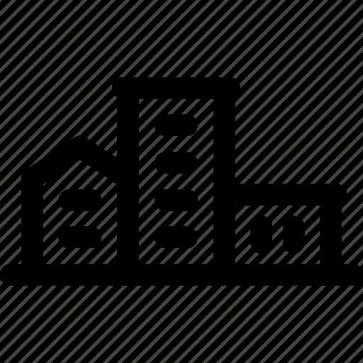 district, estate, family, housing, residences, suburb icon