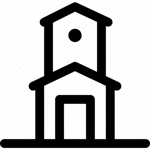 building, church, house, municipal, tower, watchtower icon