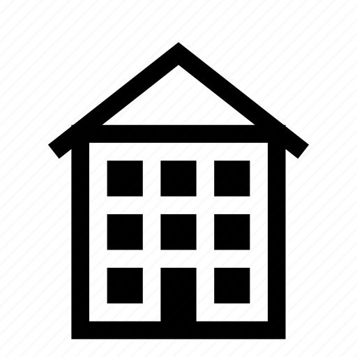 apartment, building, home, house, roof icon