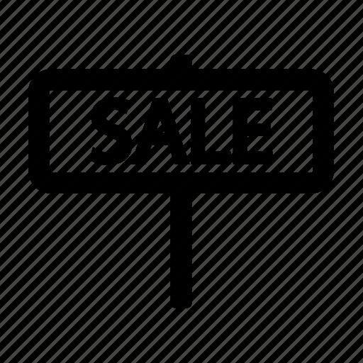 estate, real, sale, sign icon