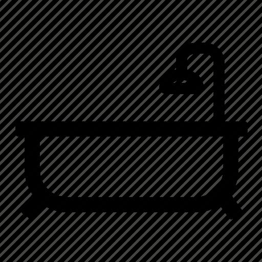 bath, bathroom, esatate, real, reax, shower icon