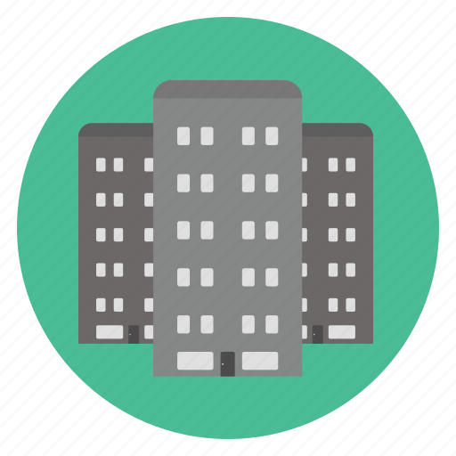 building, compound, real estate, residential icon