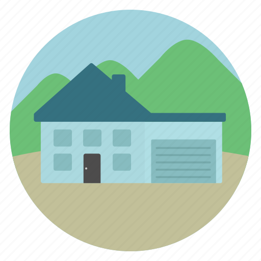 garage, house, real estate icon