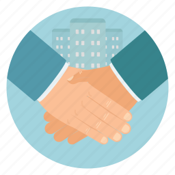 deal, real estate, shaking hands icon